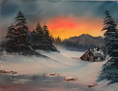 Snowbound Sunrise Art Print