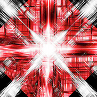 Digital Art - Snowburst  by Steve Ball