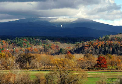 Photograph - Snowcapped Mount Moosilauke by Nancy Griswold