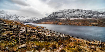 Lakes Digital Art - Snowcapped Valley by Adrian Evans