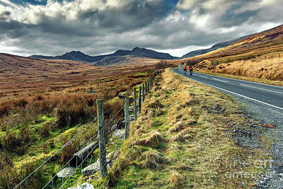 Photograph - Snowdon Cyclists by Adrian Evans