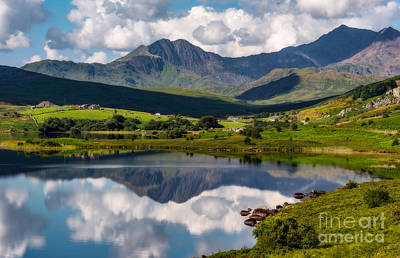 Bank Clouds Hills Photograph - Snowdon Horseshoe by Adrian Evans