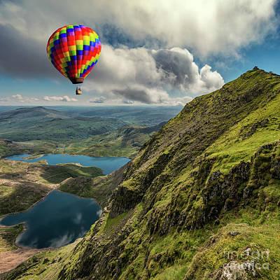 Photograph - Snowdon Hot Air Balloon by Adrian Evans