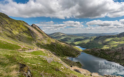 Miners Photograph - Snowdon Tracks by Adrian Evans