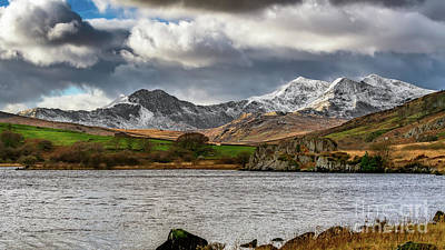 Photograph - Snowdon Winter Landscape by Adrian Evans