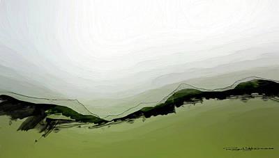 Digital Art - Snowdonia Contemporary Art by Roger Lighterness