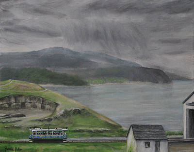 Wales Painting - Snowdonia From The Great Orme - Llandudno by Ronald Haber