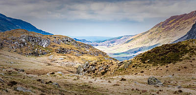 Photograph - Snowdonia Landscape by Nick Bywater