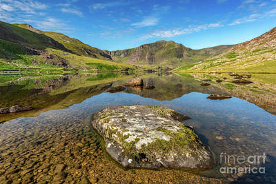 Print featuring the photograph Snowdonia Mountain Reflections by Adrian Evans