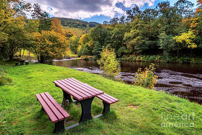 Photograph - Snowdonia River Autumn by Adrian Evans