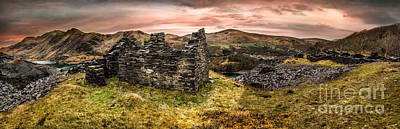 Lakes Digital Art - Snowdonia Ruins Panorama by Adrian Evans
