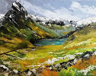 Painting - Snowdonia Wales by Courtney Wilding
