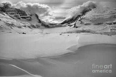 Photograph - Snowdrifts Glaciers And Clouds by Adam Jewell