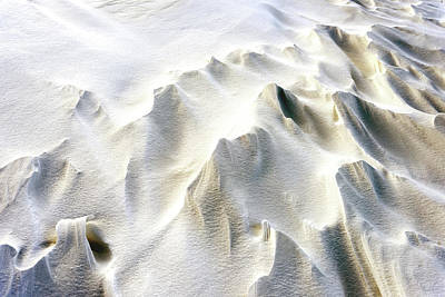 Photograph - Snowdrifts In Snow At Winter by John Williams
