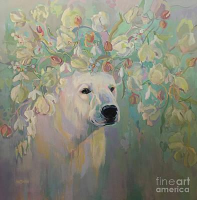 Snow Melt Painting - Snowdrop by Kimberly Santini