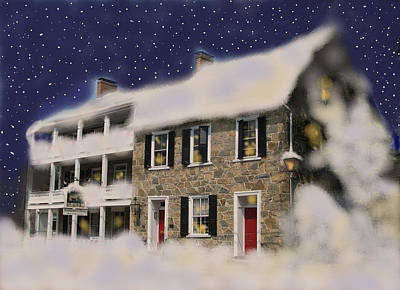 Photograph - Snowed In At The Fairfield Inn by Angela Davies