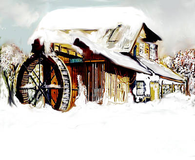 Painting - Snowed In by Belinda Threeths