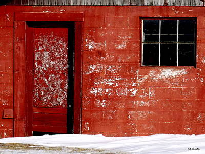 Red Barn In Winter Digital Art - Snowed In by Ed Smith