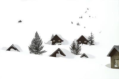 Photograph - Snowed In by Gareth Davies