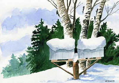 Painting - Snowed In by Jeff Blazejovsky
