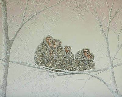 Ape Painting - Snowed Under by Pat Scott