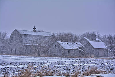 Photograph - Snowfall Abandonment 2 by Bonfire Photography