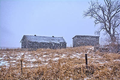 Photograph - Snowfall Abandonment by Bonfire Photography