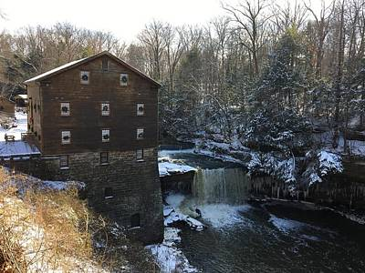 Photograph - Snowfall At The Mill by Heidi Moss