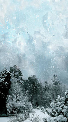 Digital Art - Snowfall by Gina Harrison