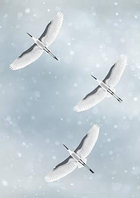 Snowfall Art Print by Moira Risen