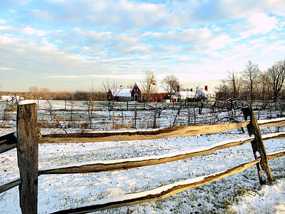 Photograph - Snowfall On A Hollis Nh Farm by Janice Drew