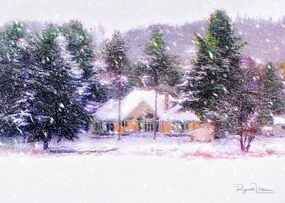 Photograph - Snowfall On The Winter Cottage by Reynaldo Williams