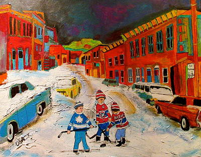Snowfall Street Hockey Original by Michael Litvack