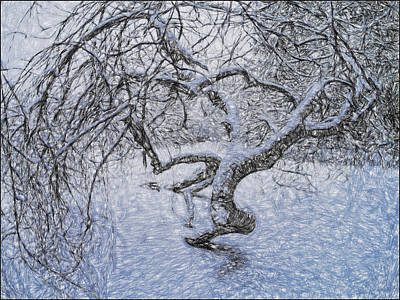 Photograph - Snowfall by Vladimir Kholostykh