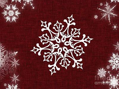 Digital Art - Snowflake 1 by Erika H
