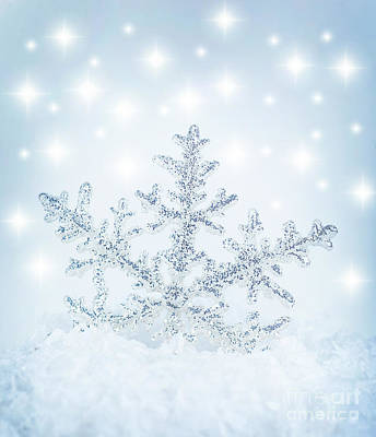 Snowflake Background Art Print