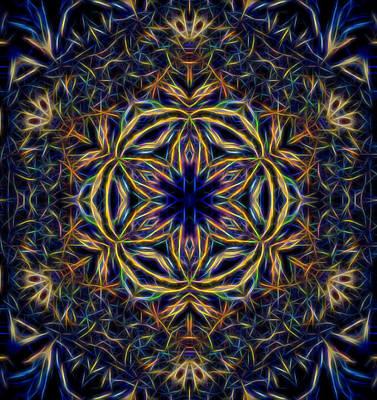 Digital Art - Snowflake Design 2 by Lilia D