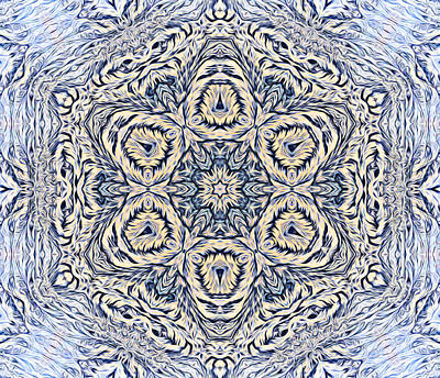 Digital Art - Snowflake Design 3 by Lilia D