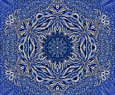 Digital Art - Snowflake Design 4 by Lilia D
