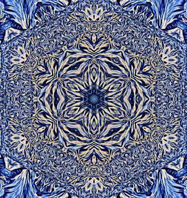 Digital Art - Snowflake Design 5 by Lilia D