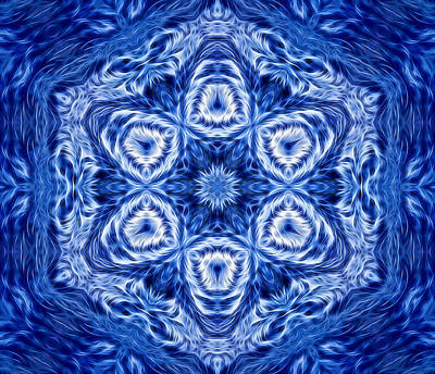 Digital Art - Snowflake Design 6 by Lilia D