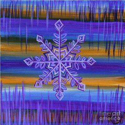 Skiing Fine Art Painting - Snowflake IIi by Nicolette Maw