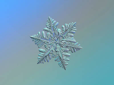 Photograph - Snowflake Macro Photo - 13 February 2017 - 5 Alt by Alexey Kljatov