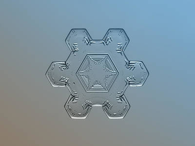 Photograph - Snowflake Macro - Snow Flower by Alexey Kljatov