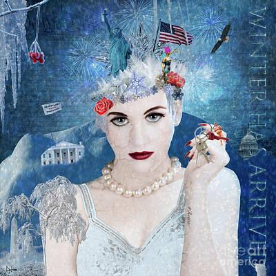 Digital Art - Snowflake by Nola Lee Kelsey