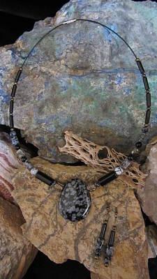 Jewelry - Snowflake Obsidian #s34 by Barbara Prestridge