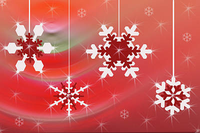 Photograph - Snowflake Ornaments by Donna Greene