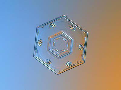 Relief Photograph - Snowflake Photo - Cryogenia Alternate by Alexey Kljatov