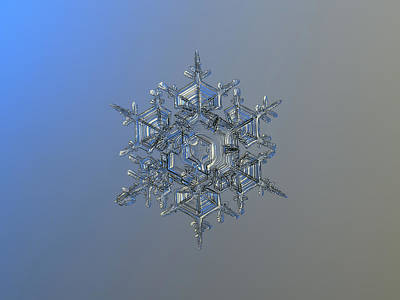 Star Photograph - Snowflake Photo - Crystal Of Chaos And Order by Alexey Kljatov