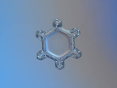 Photograph - Snowflake Photo - Dusty Mirror by Alexey Kljatov